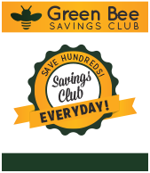Green Bee Savings Club Benefits #Benefits GreenBeeFundraising.com